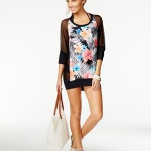 Coco Reef Floral Chiffon Combo Swim CoverUp Dress